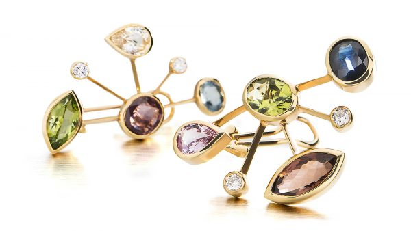 Image photo of ear clips. Jewellery photography for magazine