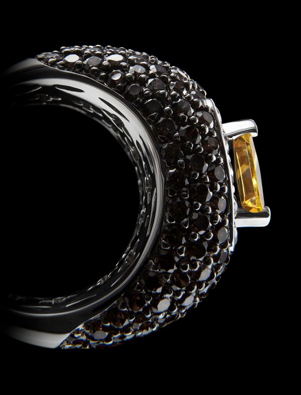 Ring close-up - Macrophotography for VILMAS jewelry. Jewelphoto for Basel World trade show
