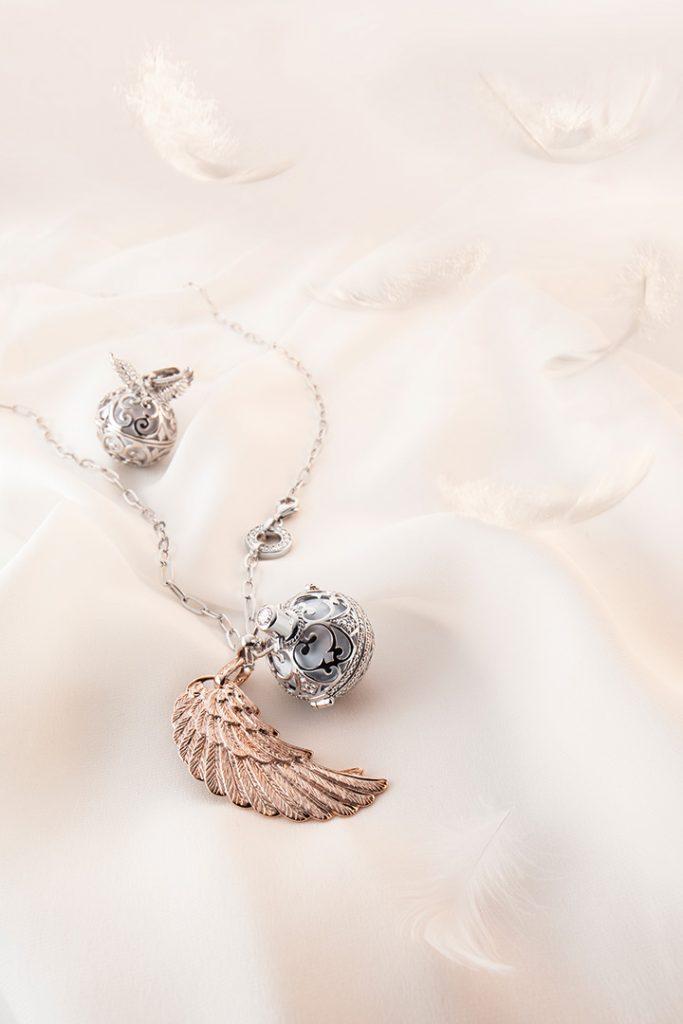 Engelsrufer set. Jewel photography for sales poster