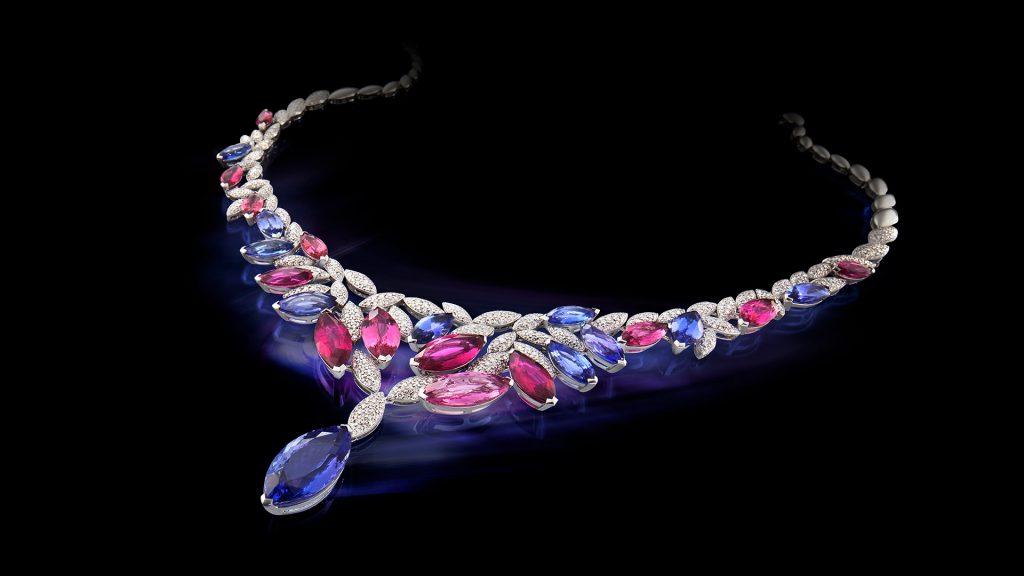 Collier with brillants. Jewelphoto for advertisement