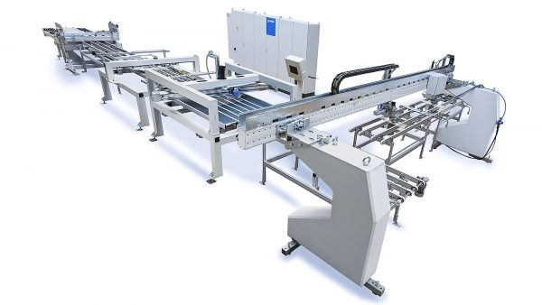 Productphoto of a glass cutting machine by Bystronic for the car industry