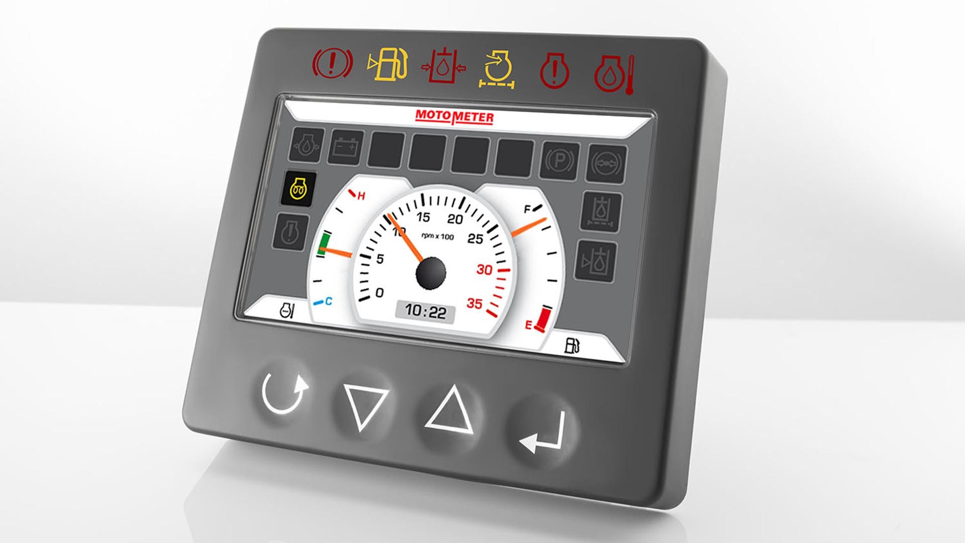 control panel of a tractor. industrial shot