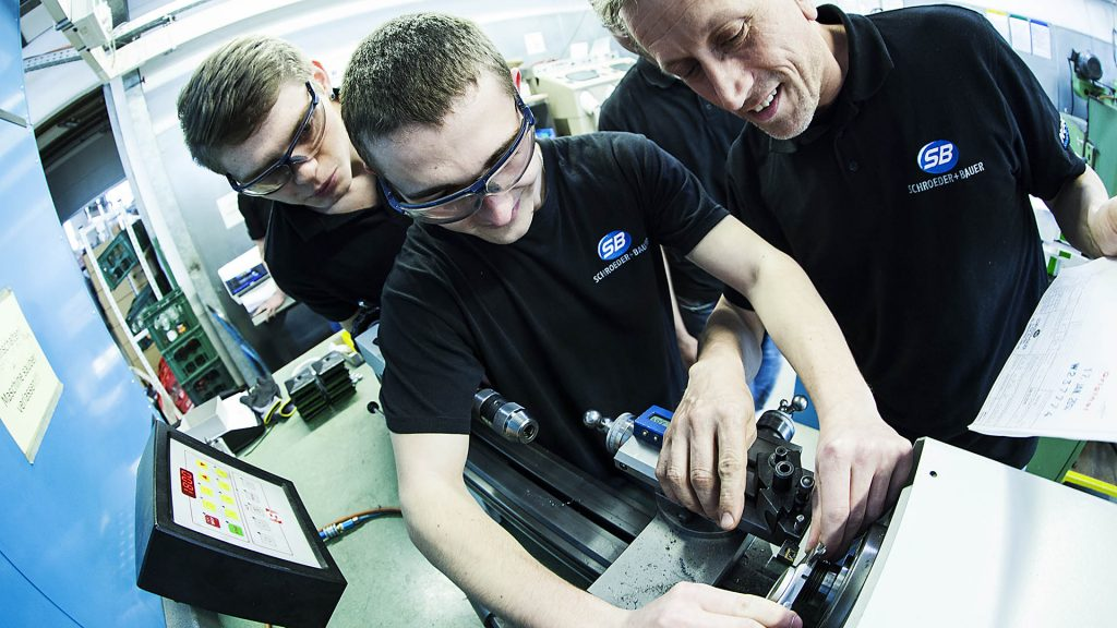 Apprentice education. Captured by the industrial photographer