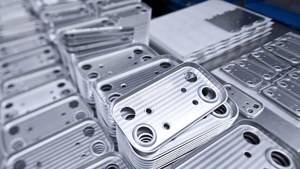 Photography of stamping parts, bending parts, stamping-bending parts. Part of an industrial report for company webside Bernecker Group