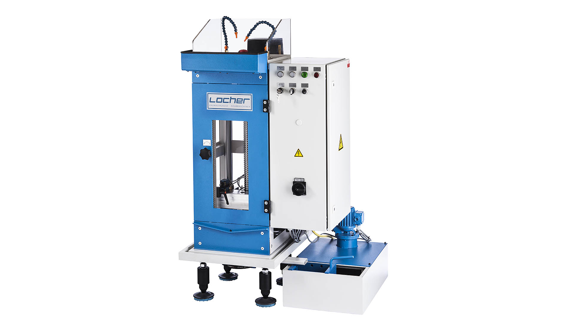 productshot of a small broaching machine. Industrialphoto done by a industrial photographer