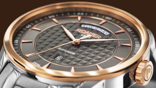 Image shot: Close-up shot of a Roamer Watch Done in the photostudio for watch photography