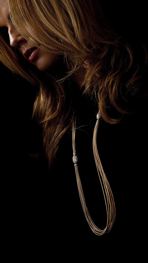 Necklace with modell. Advertisement shot done for Juwelier Leicht
