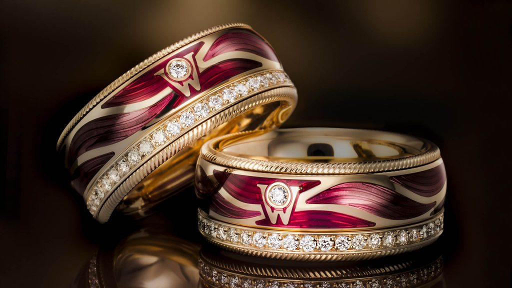Imagephoto of a ring group. Shot taken for brand book by the jewel photographer Christian Eppelt