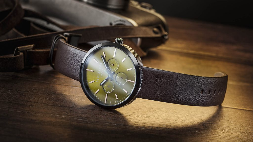 Ted Baker - the old spy. watch shot fitting the actual Ted Baker campaign