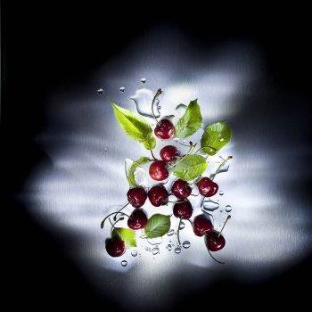 At night in the kitchen - cherries -